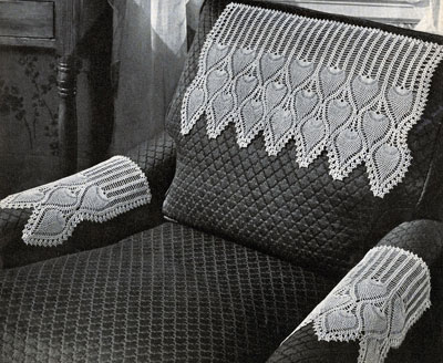 Crochet Arm Chair Covers Pattern Free Crochet Patterns