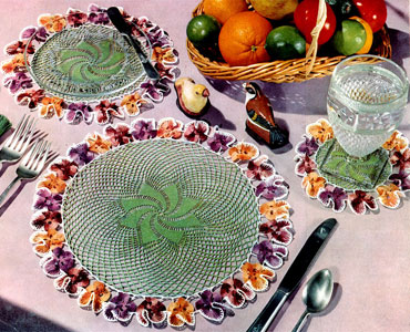 Pansy Doily Luncheon Set Pattern