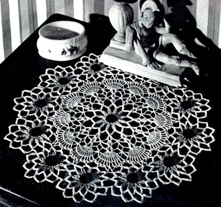 Black Eyed Susan Doily Pattern
