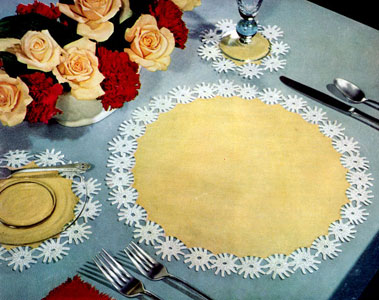 Daisy Luncheon Set Pattern