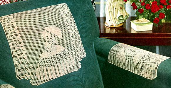 Garden Walk Chair Set Runner Pattern Cl 259 Crochet Patterns