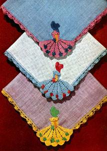 Crinoline Handkerchiefs Motif Pattern