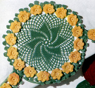 Rose Whirl Motif Pattern