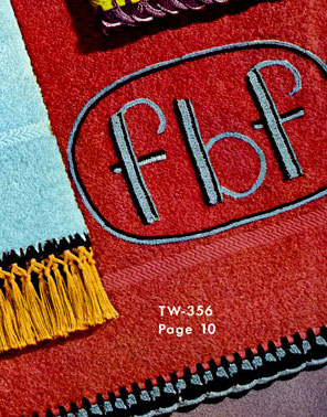Monogram Towel Decorative Crochet Pattern TW356