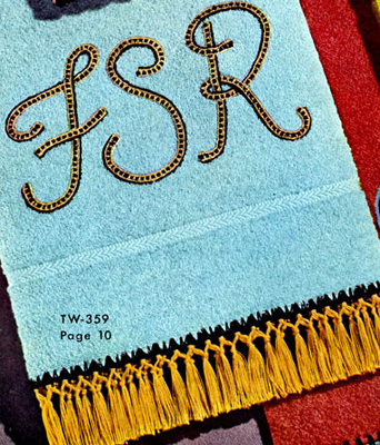 Monogram Towel Decorative Crochet Pattern TW359