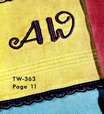 Monogram Guest Towel Decorative Crochet Pattern TW363