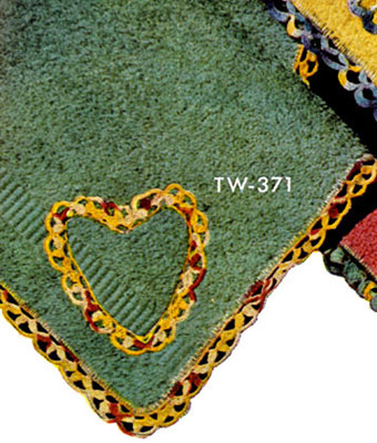 Washcloth Decorative Crochet Pattern TW371