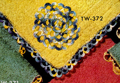 Washcloth Decorative Crochet Pattern TW372