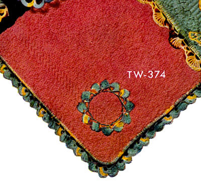 Washcloth Decorative Crochet Pattern TW374