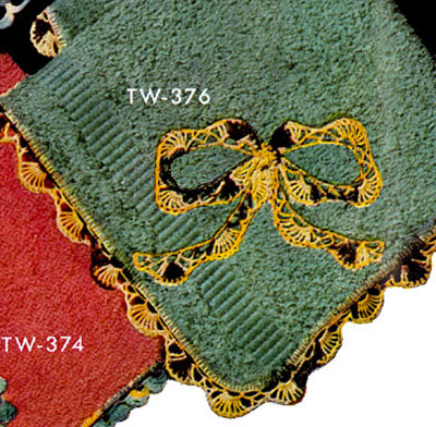 Washcloth Decorative Crochet Pattern TW376