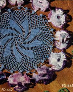 Petunias Doily Pattern