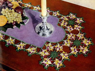 Viola Cornuta Doily Pattern