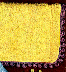 Rain Drop Washcloth Edging Pattern