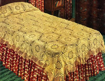 Pineapple Frosting Bedspread Pattern #S-244