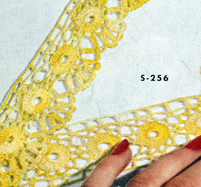 Pillow Case Edging & Insertion No. S256 Pattern