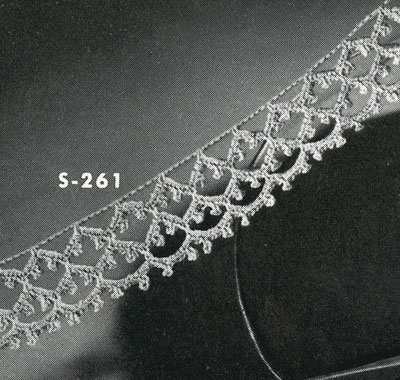 Irish Crochet Edging No. S261 Pattern