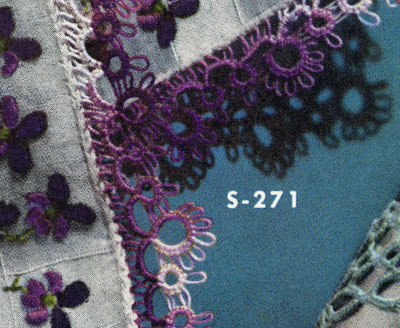 Tatted Handkerchief Edging No. S271 Pattern
