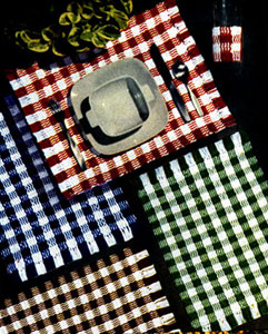 Tartan Place Mat & Glass Jacket Pattern