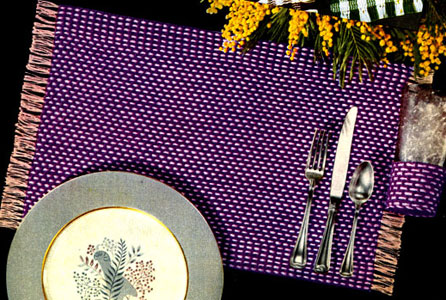 Tweed Place Mat & Glass Jacket Pattern
