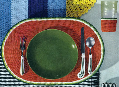 Watermelon Place Mat & Glass Jacket Pattern