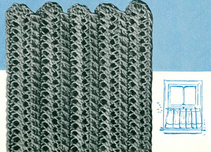 Maine Modern Hairpin Lace Curtains Pattern Crochet Patterns