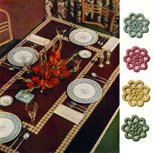 Virginia Modern Tablecloth Pattern
