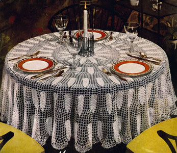 Oregon Modern Tablecloth Pattern