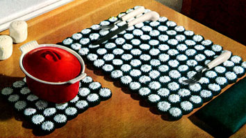 Bottle Cap Place Mat & Hot Plate Set Patterns