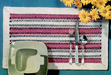 Hairpin Lace Place Mat 2 Pattern