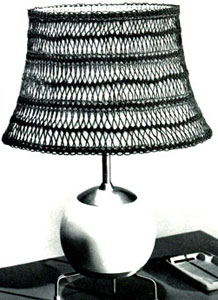 Hairpin Lace Lamp Shade Cover Pattern