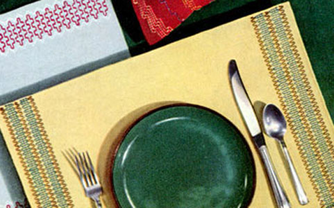 Yellow Place Mat Pattern