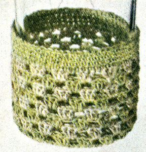 Chartreuse and Ecru Glass Jacket Pattern