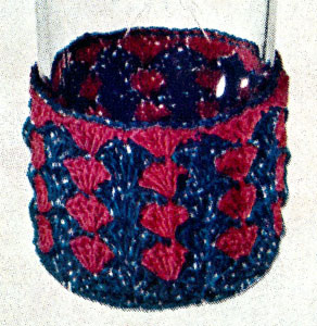 Watermelon and Blue Glass Jacket Pattern