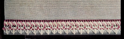 Towel Edging with Rick-Rack Pattern