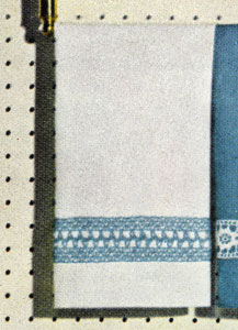 White Guest Towel Insertion Pattern
