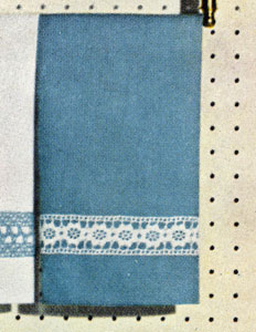 Aqua Guest Towel Insertion Pattern