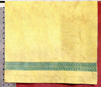 Yellow Guest Towel Insertion Pattern