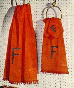 Orange Towel Edging Set Pattern