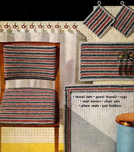 Striped Kitchen Set Pattern