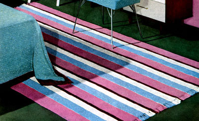 Striped Bedroom Rug Pattern
