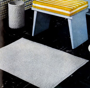 Bath Mat & Scrap Basket Cover Pattern