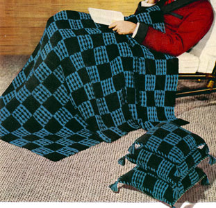 Checkmate Afghan Pattern