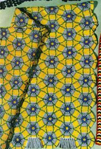 Lazy Daisy Afghan Pattern