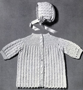 Infant's Coat and Bonnet Pattern