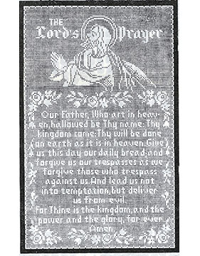 The Lord's Prayer Filet Crochet Wall Panel #703