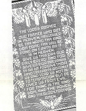 The Lord's Prayer Crocheted Filet Panel #7264
