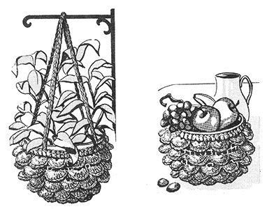 Crocheted Plant Holder and Bowl Cover Pattern #834