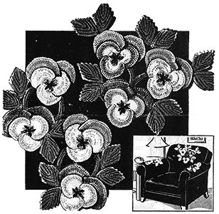 Pansy Chairback Set Pattern #R2618