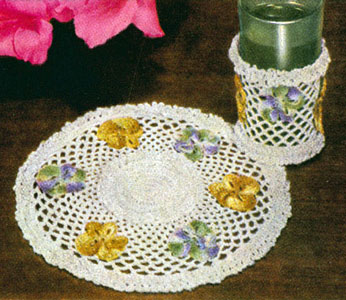 Pansies Refreshment Set Pattern