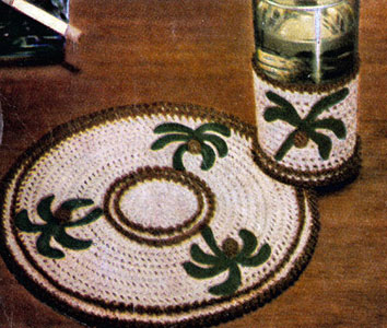 Palm Trees Refreshment Set Pattern